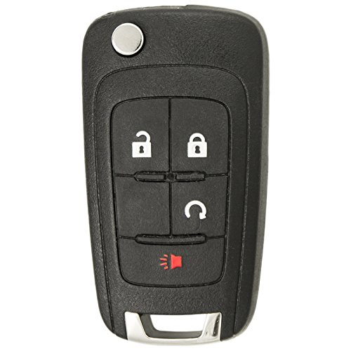 Keyless2Go Replacement Keyless Remote 4 Button Flip Car Key Fob For - Replacement Equinox Chevrolet