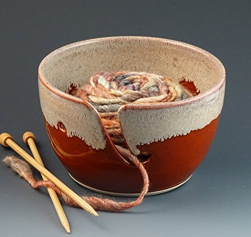 - Yarn Bowl in Pumpkin & Cream