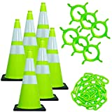 Product review for Mr. Chain 93277 Traffic Cone and Chain Kit, Safety Green with Reflective Collar