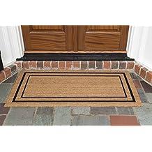 "DeCoir 61910 24""x48"" 'Classic Border' Coir Double Door Mat, Large"