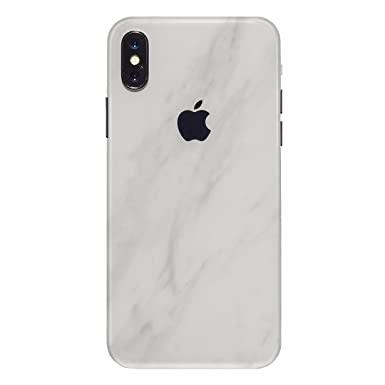 meet 35df2 2e73c 7 Layer Skinz Custom Skin Wrap compatible with iPhone X (White Marble)