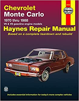 85 monte carlo wiring diagram free picture chevrolet monte carlo  70 88  haynes repair manual  does not  haynes repair manual