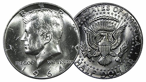 1964 Kennedy Silver Half Dollar - Brilliant Uncirculated Half Dollar Brilliant - Liberty Quarter 1964