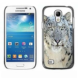 Caucho caso de Shell duro de la cubierta de accesorios de protección BY RAYDREAMMM - Samsung Galaxy S4 Mini i9190 MINI VERSION! - Snow Leopard Tiger Furry Winter Animal