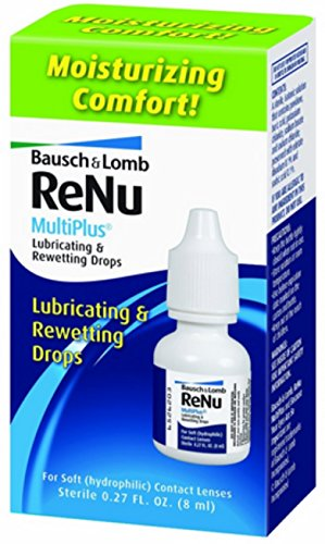Rewetting Drops Lens (Bausch & Lomb ReNu MultiPlus Lubricating and Rewetting Drops 0.27 oz (Pack of 2))