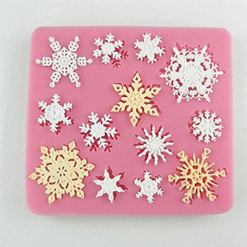 - Silicone Baking Mold, gloednApple 3D Cake Soap Cookies Chocolate Sugar Fondant Baking Mould Craft Decor 1Pcs (Snowflake)
