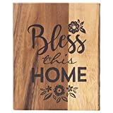 Bless This Home Flourish Inspirational 8 x 10 Inch Wood Decorative Cutting Board
