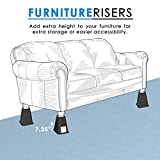 Richard's Homewares Bed Risers with USB Ports and