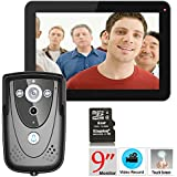 MAOTEWANG 9 Video Intercom Doorphone Doorbell Intercom (1000TVL Surveillance Camera, 9 Monitor Record, Touch, Remote Unlock)