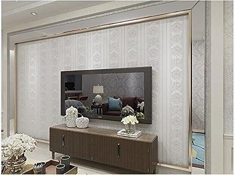Xzzj 3D tessuto non intrecciato salotto tv parete carta da parati ...