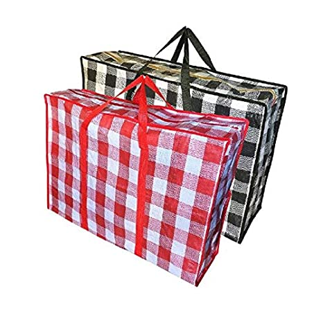 Gran bolsa de almacenamiento, bolsa de ropa, bolsa de asas versatil para casa, moverse, viajar, Extra Storage.Robusta bolsa de almacenamiento para la ...