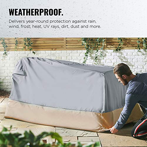 "VonHaus Ride-On Mower Mini Tractor Cover – 'The Storm Collection' Premium Heavy Duty Waterproof Outdoor Protection Universal Fit with Drawstrings & Vents – L71.5"" x D44"" x H43"""
