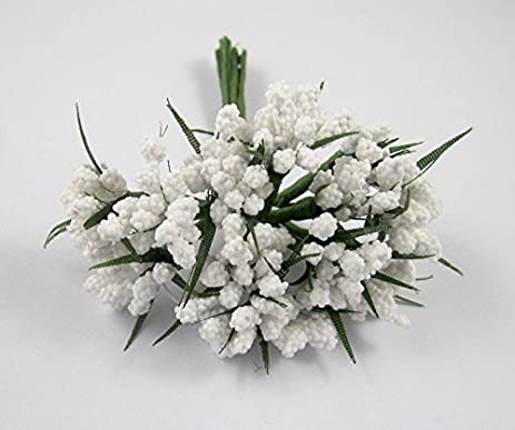 Amazon 2x24pcslot white foam flower with wire stem artificial 2x24pcslot white foam flower with wire stem artificial flowers decoration white mightylinksfo