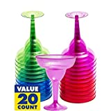 Cocktail Margarita Glasses Package of 20 - 10 oz (Assorted Colors)