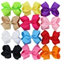 12pcs Baby Girls Cute Pigtails Hair Bows Clips