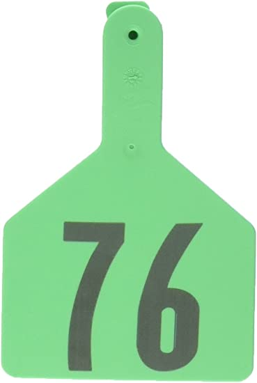 Numbers from 26 to 50 Z Tags 1-Piece Pre-Numbered Laser Print Tags for Cows Yellow