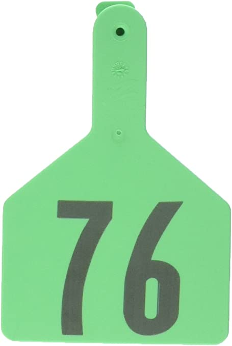 Z Tags Cow Ear Tags Yellow Numbered 51-75
