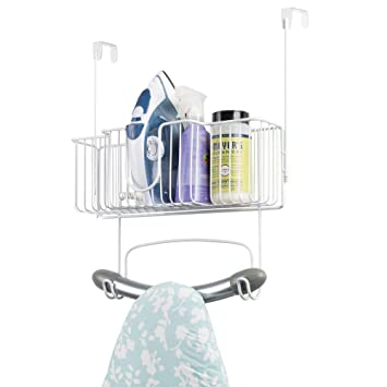 Mdesign Laundry Room Over Door Ironing Board Holder With Large