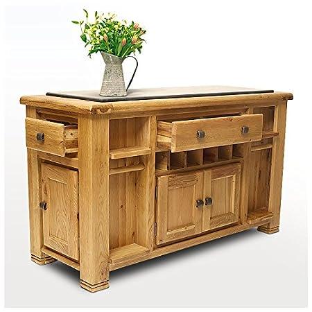 Isola per cucina in legno di quercia con maglietta, colore ...