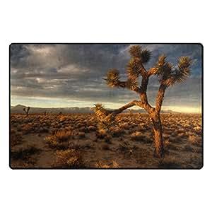 Florencia planta solitaria en el desierto alfombrilla antideslizante para Doormats alfombra piso zona alfombra para salón o dormitorio, 31x 20cm