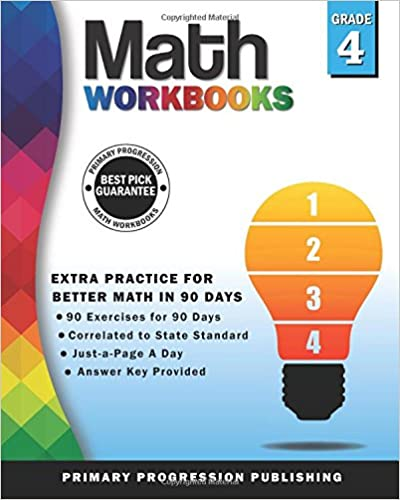 Math Workbook Grade 4: 90-Day Common Core Practice for Better Math ...