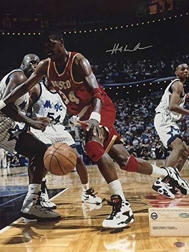 Autographed/Signed Hakeem Olajuwon Houston Rockets 16x20 Basketball Photo Steiner Sports COA #1