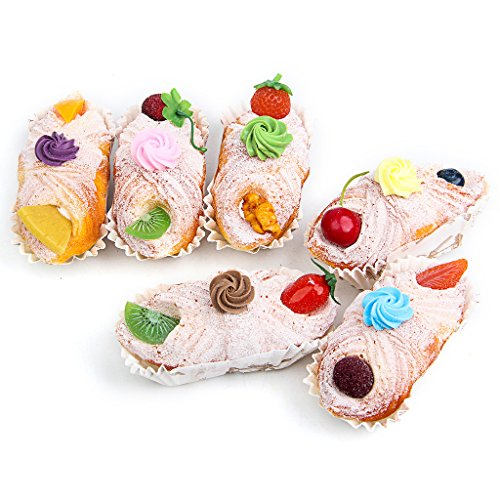 6 pcs pu material fake cake artificial french long bread for Artificial bread decoration