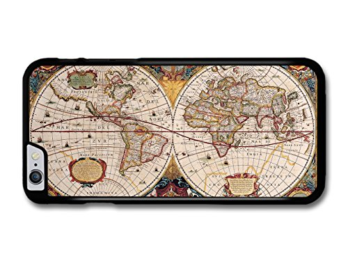 Brother Old Geographic Antique World Map Illustration case for iPhone 6 Plus 6S Plus