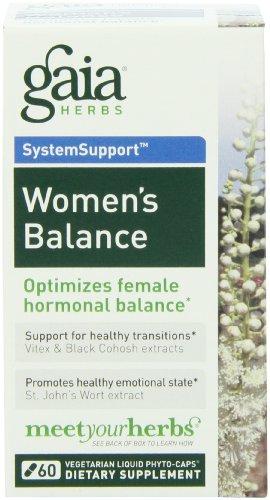 Gaia Herbs Women's Balance Liquid Phyto-Capsules, 60 Count Liquid Menopause Formula