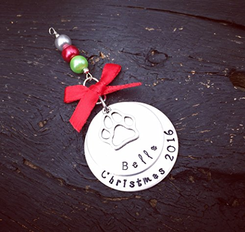 Dog Christmas Ornament | Dog's First Christmas Ornament | Personalized Dog Ornament | Customized Dog Ornament | Handmade Gift For Dog Lover