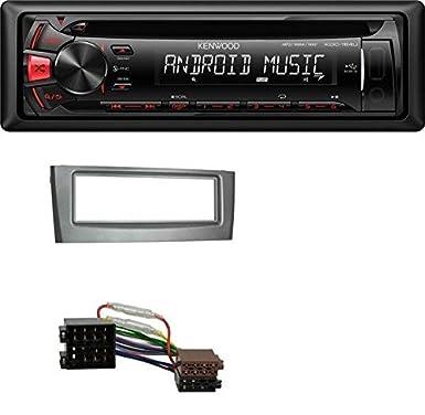 - Black 2005 Onwards Grande Punto Kenwood CD MP3 USB Car Stereo AUX for Fiat Punto