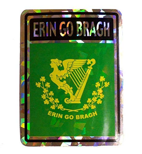 - ALBATROS Erin Go Bragh Flag Reflective Decal Bumper Sticker for Home and Parades, Official Party, All Weather Indoors Outdoors