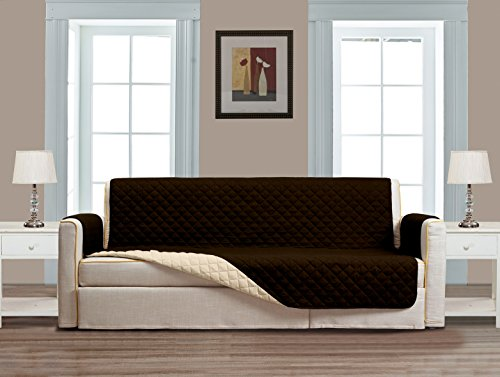 Loveseat Wide (Grand Linen Reversible Large Couch Cover 118