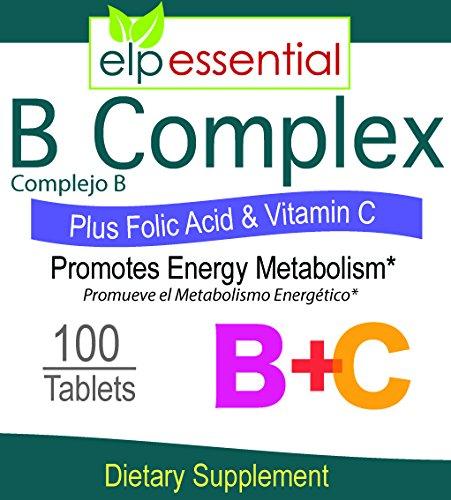 Amazon.com: B COMPLEX VITAMIN TABLETS 100S COMPLEJO B: Health & Personal Care