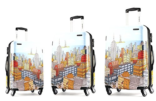 Samsonite Nyc Cityscapes 3 Piece Set 20/24/28, Blue Print, One Size by Samsonite