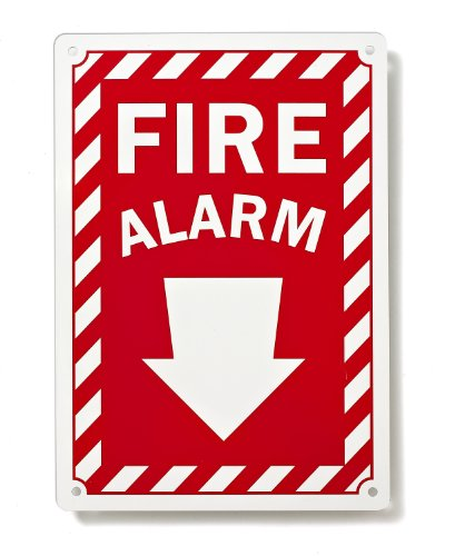Fire Alarm Arrow Down Sign