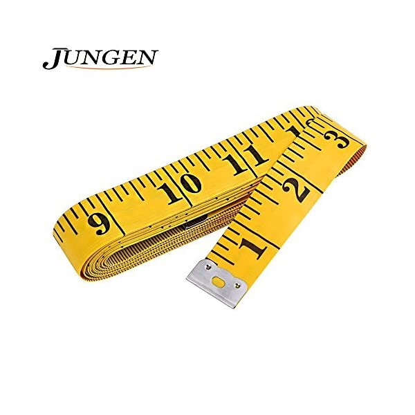 JUNGEN-120-Inch-Soft-Tape-Measure-for-Sewing-Tailor-Cloth-Ruler-Yellow-Yellow-1-Pcs