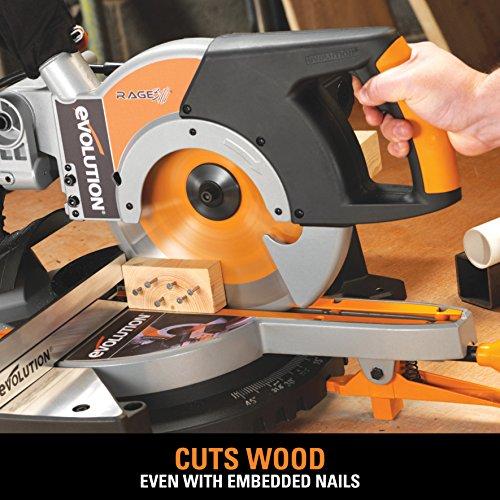 Evolution Power Tools RAGE3 10-Inch Multipurpose Cutting Compound Sliding Miter Saw
