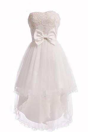 Weisses kleid tragerlos