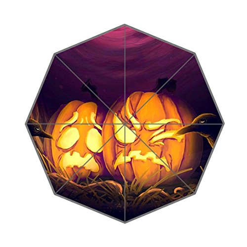 Pumpkins Paintings Halloween Decor Custom Foldable Umbrella For Rainy Sunny Day