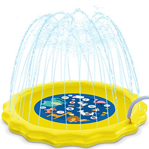 HISTOYE Outdoor Sprinkle Play Mat Summer Sprinklers for Yard Kids 63