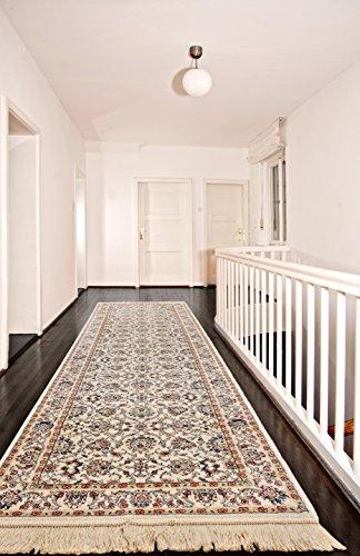Ecarpetgallery Traditional Shiravan Open Field 2' x 9' Ivory Living Room Dining Room Runner from eCarpet Gallery