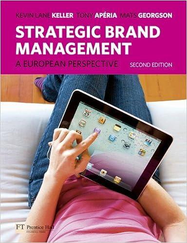 Strategic Brand Management A European Perspective Pdf