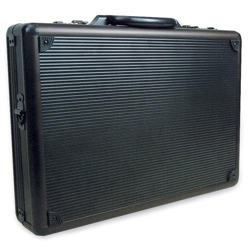 RoadPro SPC-941G Black 17.5'' x 4'' x 13'' Aluminum Briefcase