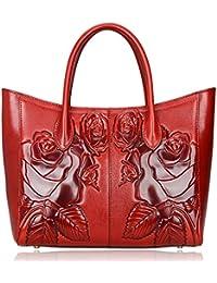 Floral Purse Designer Leather Handbags Shoulder Bags For Women 65307