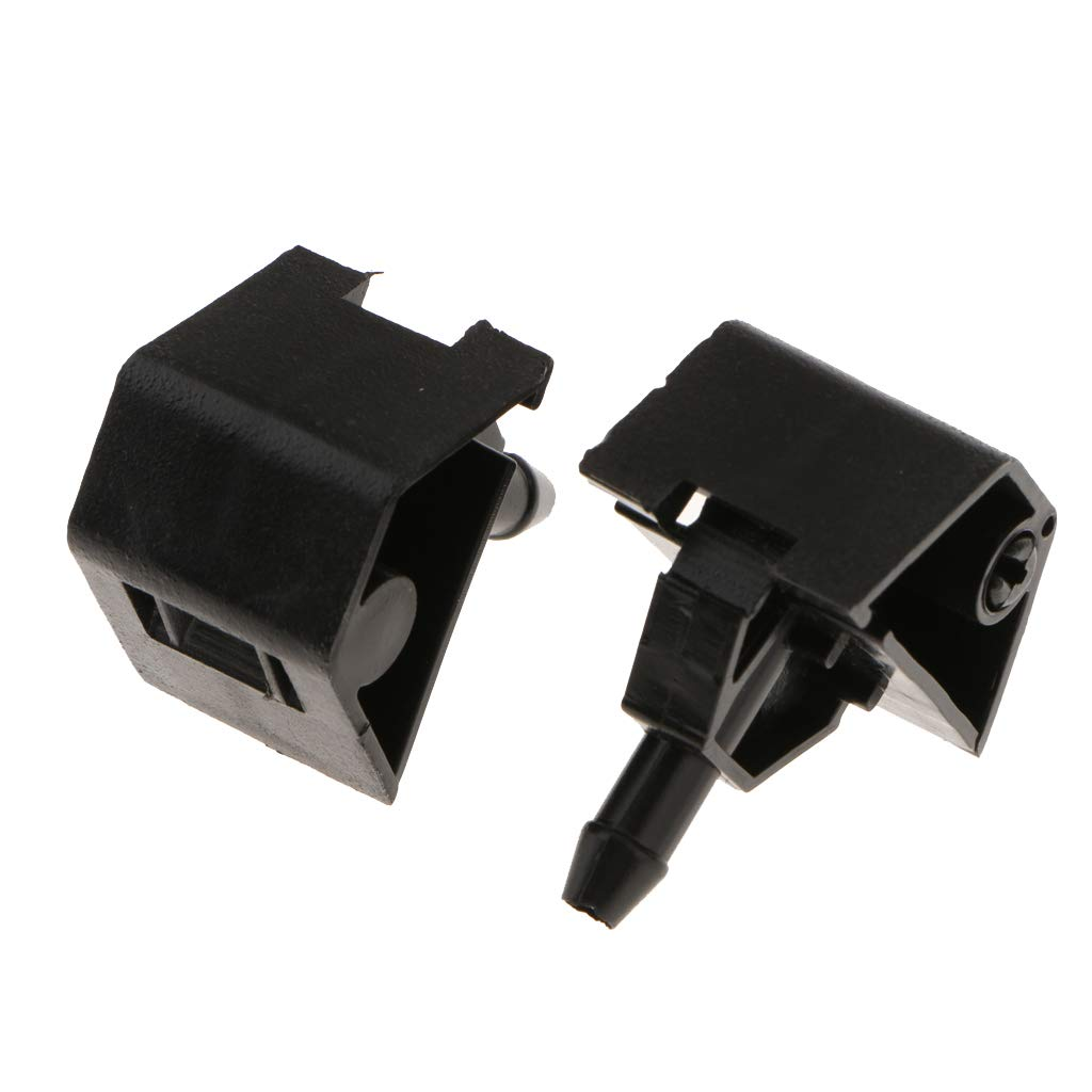 non-brand 2pcs Gicleur dessuie-Glace Buse de Pulv/érisation deau de Lave-Glace pour Nissan Qashqai I Mk1 06-14