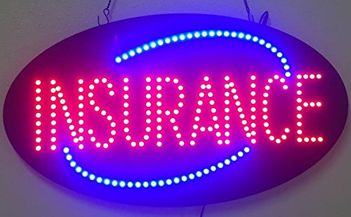 """Discount 27""""X15"""" Insurance Sign, Super Bright LED Open Sign, Store Sign, Business Sign, Windows Sign with Animation and Power Switch supplier"""