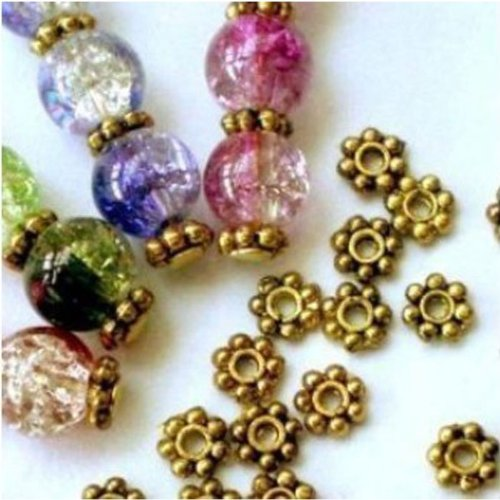 Change-Lots-200pcs-Tibetan-Daisy-Spacer-Metal-Beads-4mm-Jewelry-Making