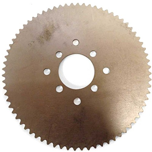 Azusa 72 Tooth Steel Sprocket 35 Chain, 2.125'' Bore, Dual 4 Hole Pattern by Azusa (Image #1)
