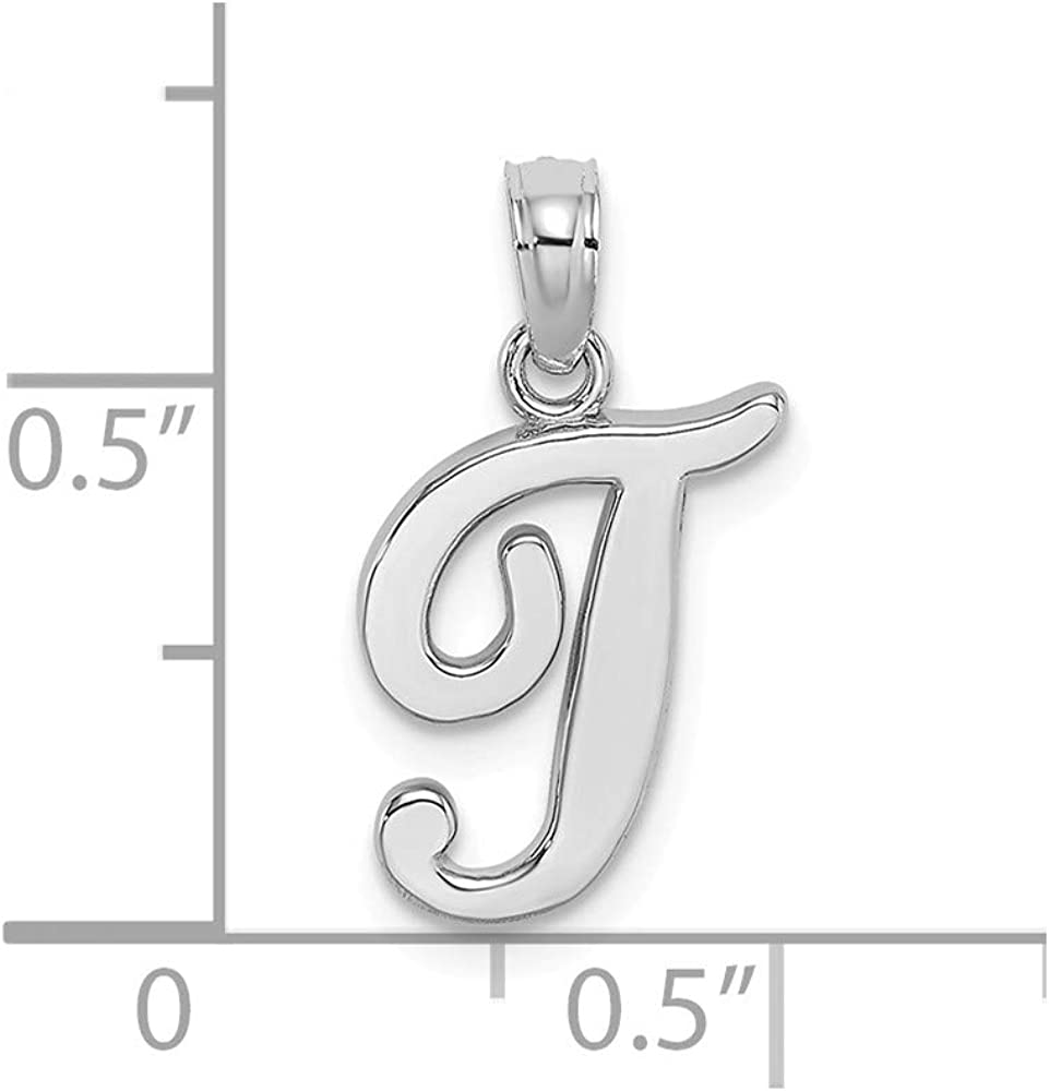 Jewels By Lux 10k White Gold A Script Initial//High Polish